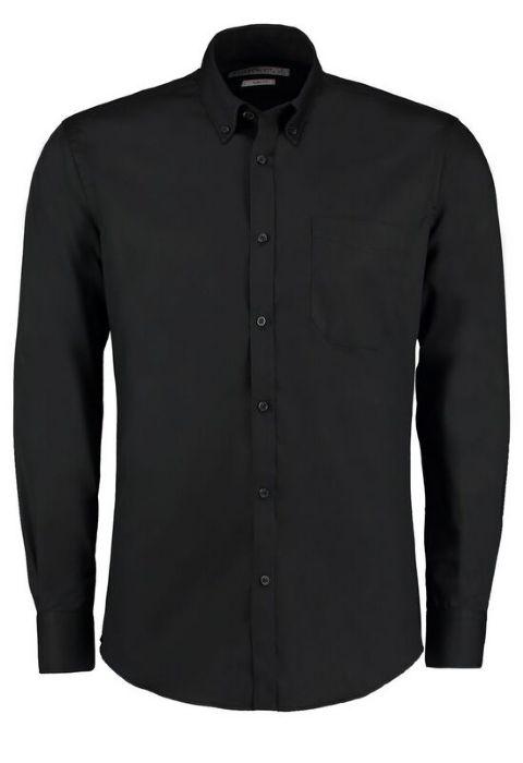 7498eb13821 Kustom Kit Premium Long Sleeve Slim Fit Oxford Shirt