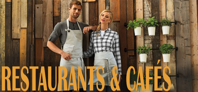 restaurants cafes bib aprons denim aprons leather aprons shirts polos