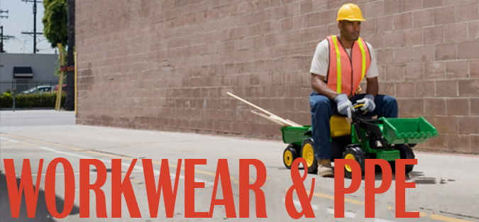 workwear PPE safety boots safety gloves specs googles ear plugs clothing