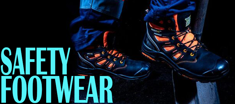 Safety Footwear, Safety boots, waterproof boots, safety trainers, safety shoes, dewalt, sterling, apache